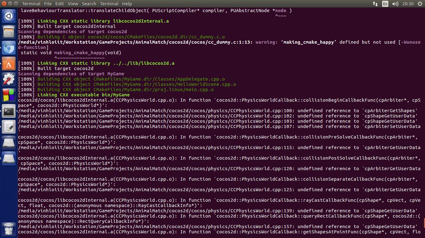 Cannot compile project version 3 11 1 ubuntu 16 04 - C++ - Cocos Forums