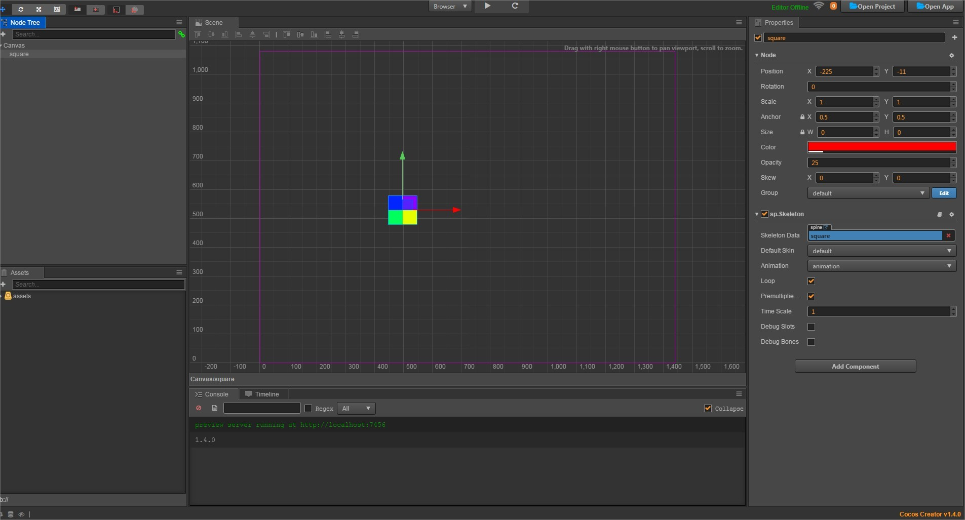 Problem with node color and Spine in 1.4 - Cocos Creator - Cocos2d-x ...
