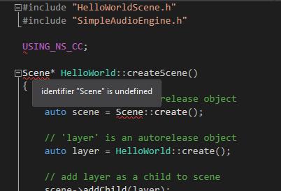 Unrecognized Syntax in Visual Studio (C++) - C++ - Cocos Forums