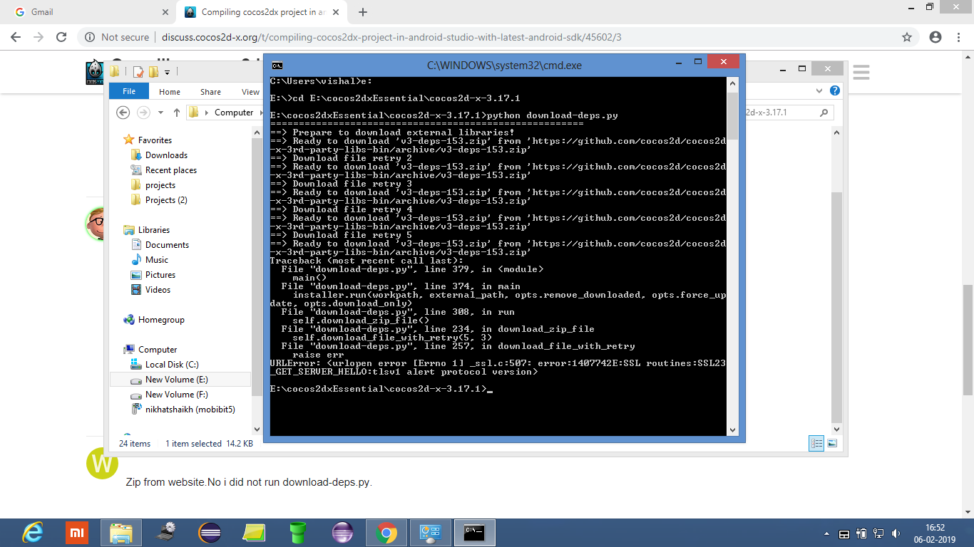 Compiling cocos2dx project in android studio with latest android sdk