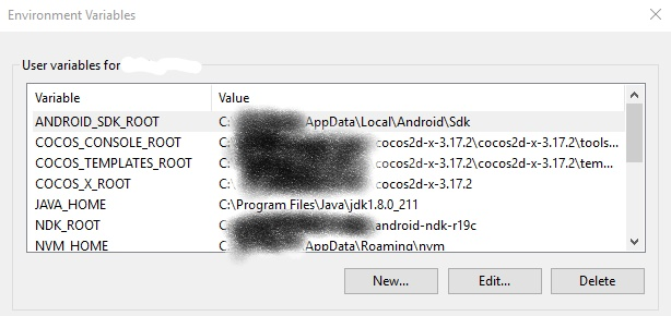 Android on Windows 10 - Cocos2d-x Install Fixes - C++