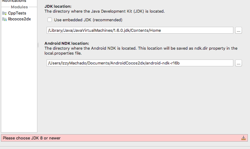 Specifying JDK version (Android Studio) - C++ - Cocos Forums